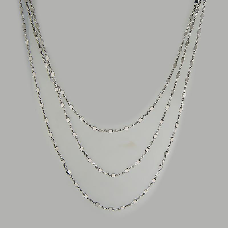 Ожерелье из серебра плоские фото